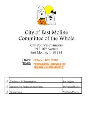 10 October 18, 2010 - City of East Moline