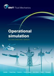 Operational Simulation brochure - BMT Fluid Mechanics