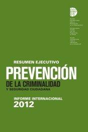 Prevencion de la Criminalidad y Seguridad Ciudadana.