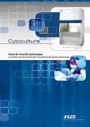 Poste de sécurité cytotoxique - Esco