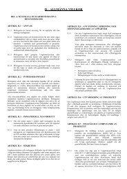 Allmänna villkor för bidrag - Ungdomsstyrelsen