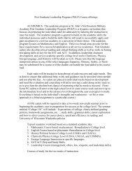 Post Graduate Leadership Program (PGLP) Course offerings ...