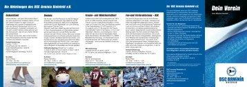 Infos zu den Abteilungen - DSC Arminia Bielefeld
