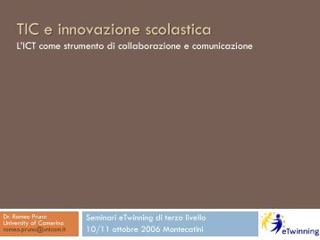 TIC e innovazione didattica - Indire