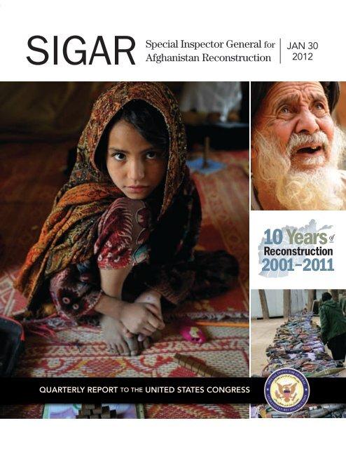 SIGAR January 2012 Quarterly Report to Congress