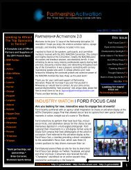 INDUSTRY WATCH I FORD FOCUS CAM