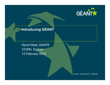 Introducing GÉANT - ccirn