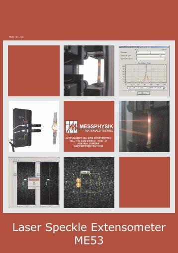 Laser Speckle Extensometer ME53 - Messphysik