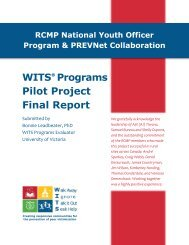 WITS Programs Pilot Project Final Report
