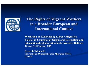 The Rights of Migrant Workers in a Broader European and ...