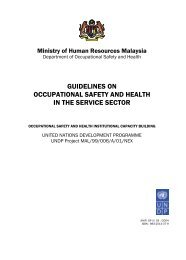 guidelines on occupational safety and health in the service ... - Dosh