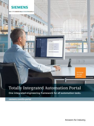 Brochure - Totally Integrated Automation Portal - Siemens