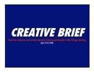 creative brief - Jewish Reconstructionist Federation - Jewish ...