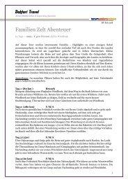 Familien Zelt Abenteuer - Daktari Travel