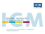 Retail Week Poll – Christmas - ICM Research