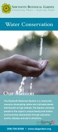 Download the Water-Wise brochure as a pdf. - Sawtooth Botanical ...