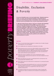Disability, Exclusion and Poverty: Combat Poverty Agency Poverty ...