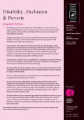 Disability, Exclusion and Poverty: Combat Poverty Agency Poverty ... - Page 4