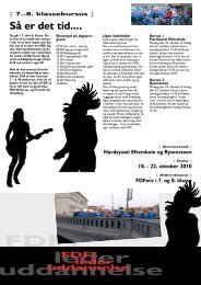 Invitation til 7. - 8. klasse kursus - Leder - FDF