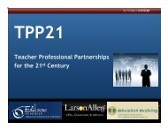 Teacher Professional Partnerships for the 21st Century - Education ...