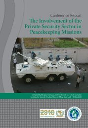The Involvement of the Private Security Sector in Peacekeeping ...