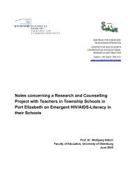 Notes concerning a Research and Counselling Project with ...