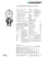 Type 5509 Differential Pressure Gauge - Temp-Press Inc