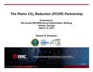 Plains CO2 Reduction Partnership (PCOR) - Southeast Regional ...