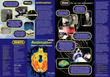 Antimatter (Page 1 - 2) - Schoolscience.co.uk