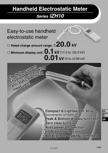 Series IZH10 Handheld Electrostatic Meter