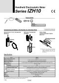 Series IZH10 Handheld Electrostatic Meter - Page 2