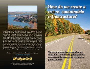 How do we create a m   re sustainable infrastructure? - MiSTI ...