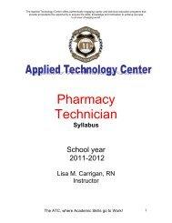 Pharmacy Technician - Applied Technology Center