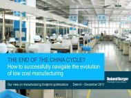 THE END OF THE CHINA CYCLE? How to ... - Roland Berger