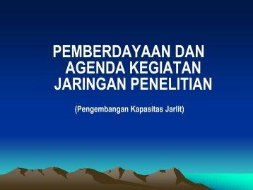 pemberdayaan dan agenda kegiatan jaringan ... - Guru Indonesia