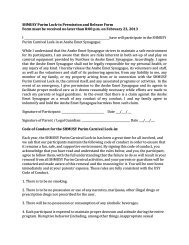 SHMUSY Purim Lock-in Permission and Release Form Form must ...