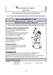 Messdienerplan Juni 2013 - Kath. Kirchengemeinde St. Marien ...
