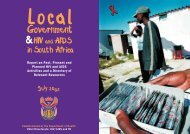 Local Government & HIV and AIDS in South Africa - Alliance of ...