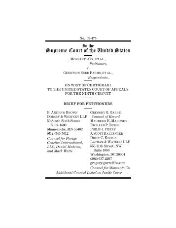 Supreme Court of the United States - Monsanto