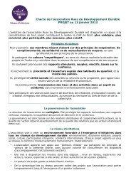 Charte de l'association Rues du Développement ... - Loire Solidaires