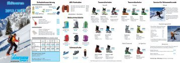 Skitouren 2012 / 2013 - Montagne-Sport GmbH