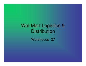 Wal-Mart Logistics & Distribution solution - Transportation Careers