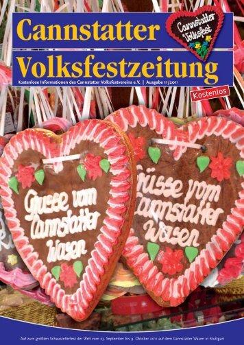 Ausgabe 2011 - Cannstatter Volksfest