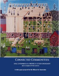 Connected Communities: Local Governments as a Partner in Citizen