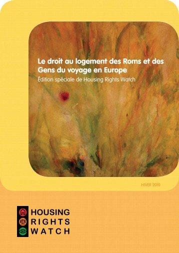 Le droit au logement des Roms et des Gens du voyage ... - Academos