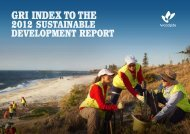 GRI Index to 2012 Sustainable Development Report - Woodside