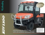 Introducing the RTV1100 with all-weather premium cab. - LiveUpdater