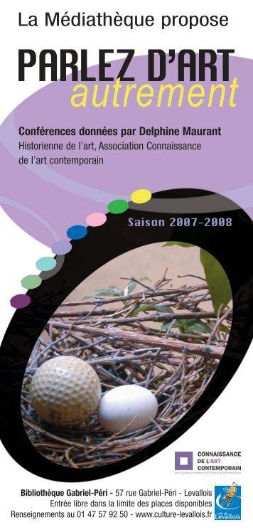 DEPLIANT 2007-2008 - Connaissance de l'Art Contemporain