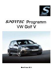 Programm VW Golf V - Sportec