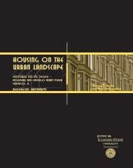 Housing on the Urban Landscape - Housing Education and ...